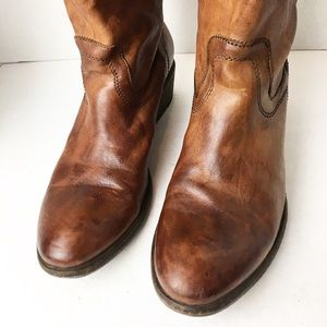 Frye Shoes - SZ 7 Frye Cognac Brown Tall Boots